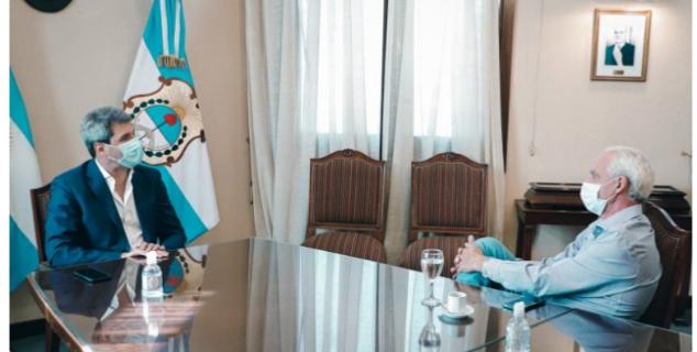El Gobernador Uñac recibió al Intendente Rubén García