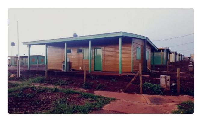 Terremoto: Misiones donó 25 viviendas prefabricadas