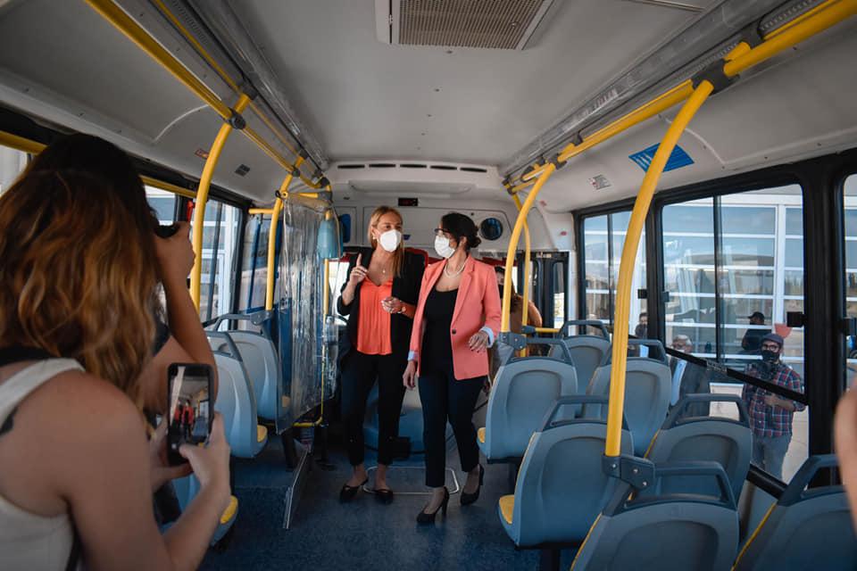 Caucete: Promocion del nuevo sistema de transporte