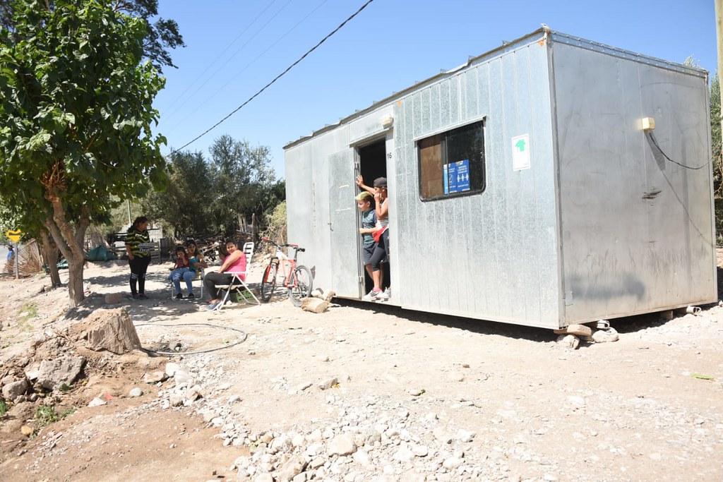 Módulos de emergencia para damnificados del sismo
