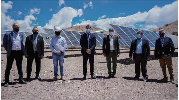 El Gobernador Uñac inauguró el Parque Solar Tamberías