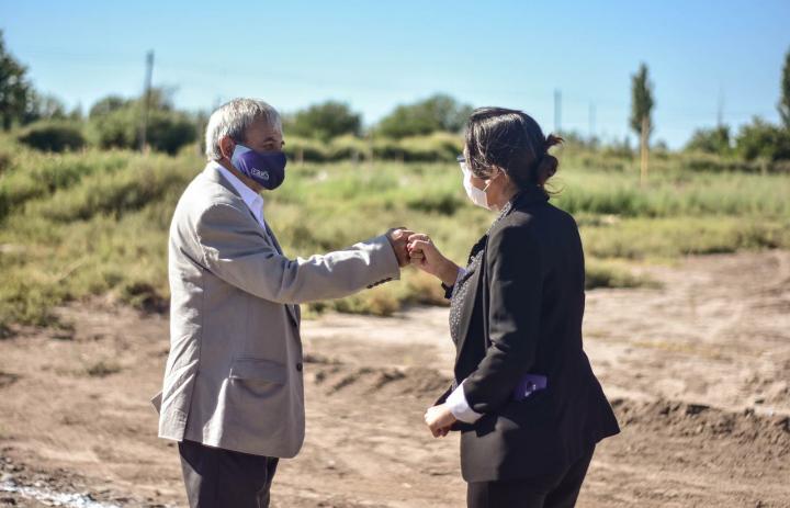 Caucete: Continúan los avances en el loteo Enfermera Medina