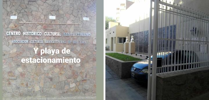 Centro Histórico Cultural Sanmartiniano convertido en cochera