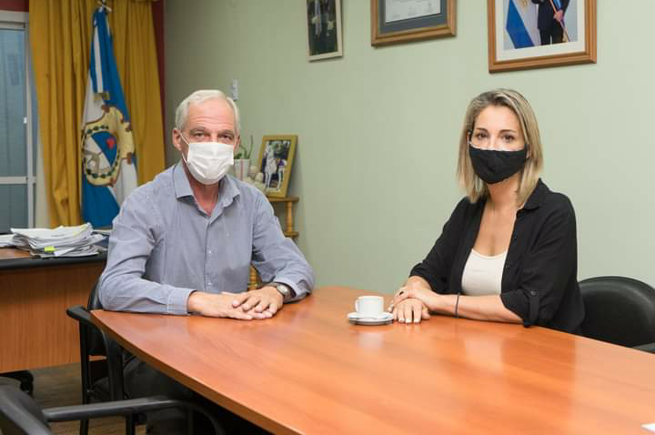 Rawson: El Intendente Rubén García recibió a Gimena Martinazzo