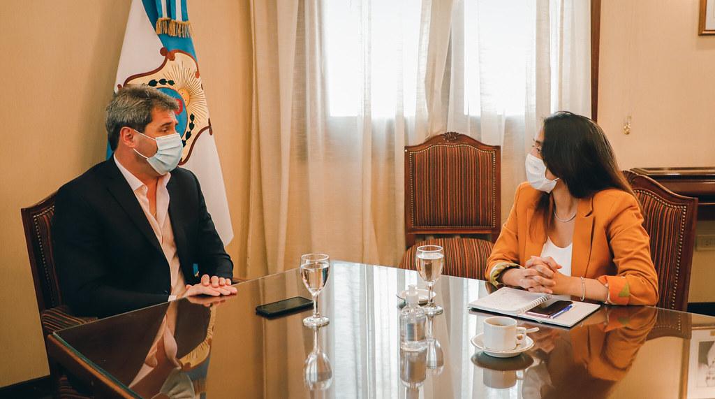 El Gobernador Uñac recibió a la IntendentA Romina Rosas