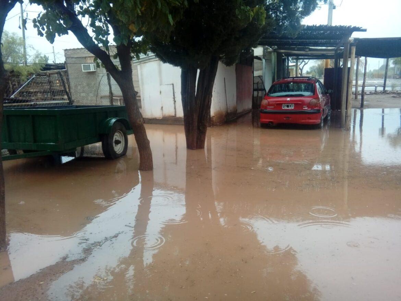 Caucete: Bermejo inundado por las lluvias