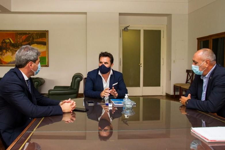 El Gobernador Uñac y el secretario de Energía de la Nación
