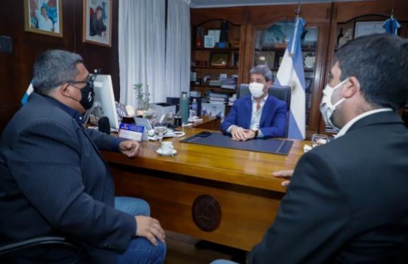 El Gobernador Uñac recibió a Marcelo Mena
