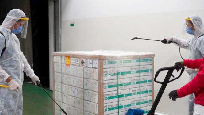 Distribución de nuevas dosis de la vacuna de Sinopharm en todo el país