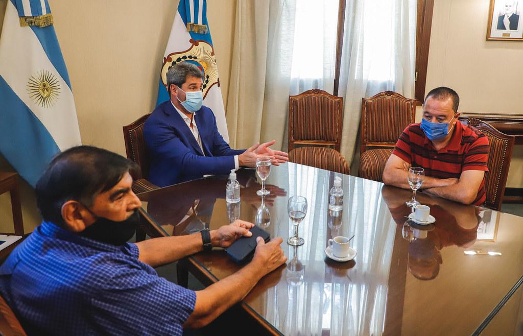 El gobernador Uñac se reunió con representantes de gremios y sindicatos mineros