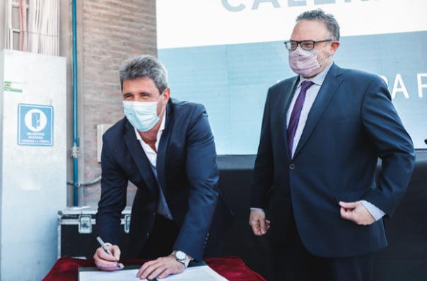 Inauguraron un horno calero y firmaron acta acuerdo para generar nuevas fuentes de empleo