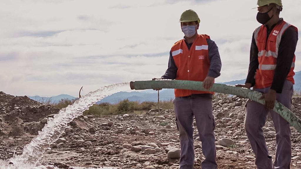 Importante obra que dotará de agua potable a Sorocayense