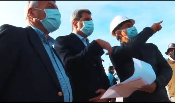 El Gobernador Uñac recorrió los terrenos donde se construirán viviendas