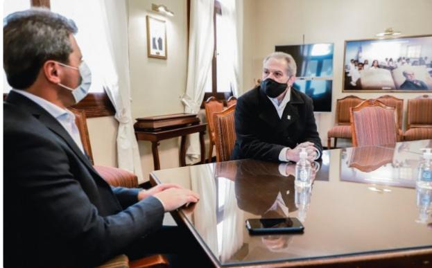 El gobernador se reunió con Hugo Goransky