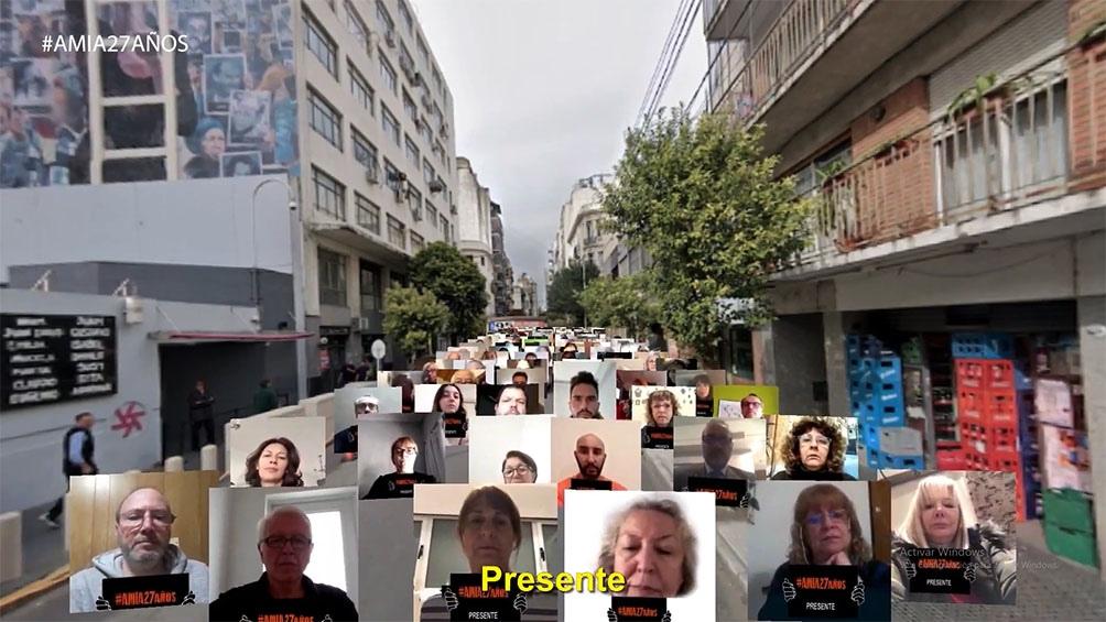 Con un acto virtual, renovaron el reclamo de justicia a 27 años del atentado contra la AMIA