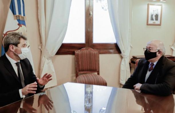 El Gobernador Uñac se reunió con Tadeo Berenguer, nuevo rector de la UNSJ