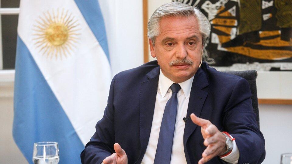 El presidente Alberto Fernández habla en el Museo del Bicentenario